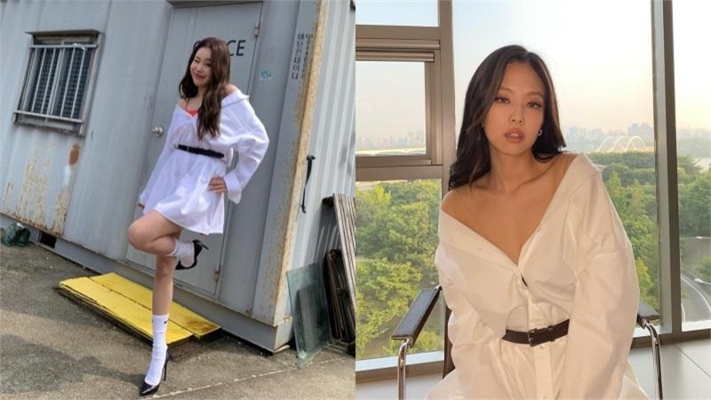 Diện kiểu áo y hệt Jennie, JooE (Momoland) khiến khán giả 'ngã ngửa' trước cách mix đồ cực khó hiểu