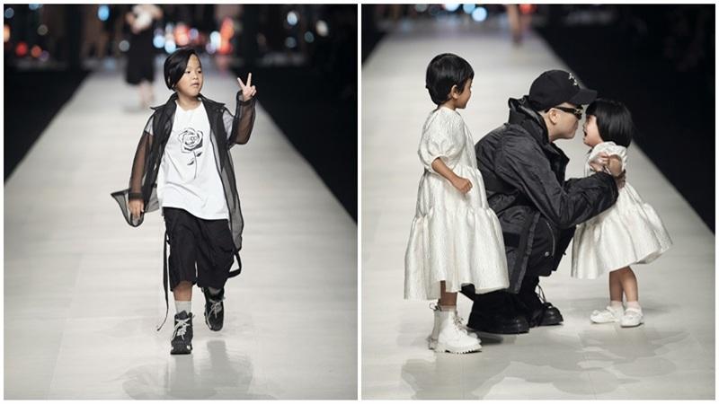 Nhóc tì nhà Đỗ Mạnh Cường xuất hiện cùng Ninh Dương Lan Ngọc gây bất ngờ tại show thời trang
