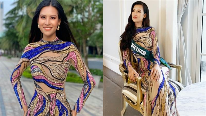 Váy xuyên thấu 'gây bão' của Thái Thị Hoa lọt top trang phục dạ hội đẹp nhất Miss Earth 2020