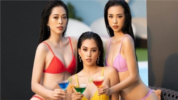Cận cảnh nhan sắc quyến rũ của top 3 Hoa Hậu Việt Nam 2018 ngày cuối đương nhiệm