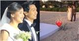 Khoảnh khắc độc: Công Phượng dìu Viên Minh bước đi trên cát, tiến vào lễ đường cử hành hôn lễ