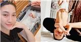 Pha Lê chia sẻ hình ảnh con gái 'trồng chuối' khi mới 5 ngày tuổi
