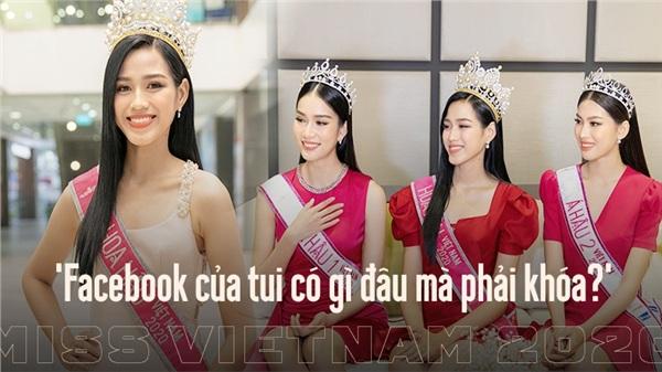 Hoa hậu Đỗ Thị Hà: 'Được khuyên nên khóa Facebook, tôi còn hồn nhiên hỏi lại 'sao phải khoá?'