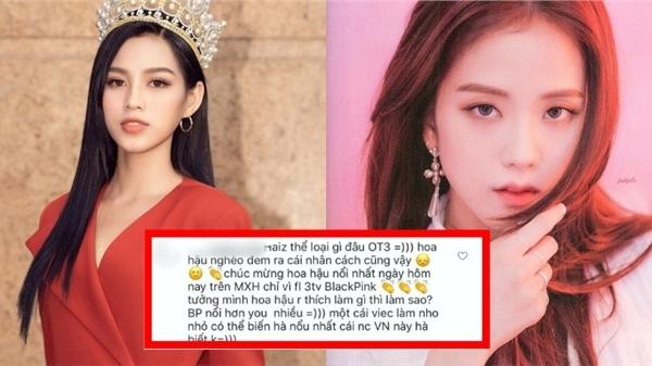 Hoa hậu Đỗ Thị Hà lại bị cư dân mạng 'công kích', lần này liên quan đến Jisoo (Black Pink)?