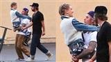 Tình cảm ngày một mặn nồng, Justin Bieber bế bổng Hailey Baldwin giữa phim trường