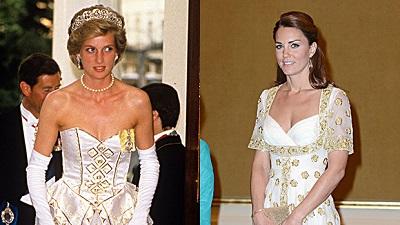 Những lần công nương Kate và Meghan 'copy' phong cách của công nương Diana
