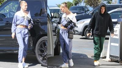 Hailey Baldwin khoe bụng phẳng, hộ tống Justin Bieber với gương mặt buồn bã