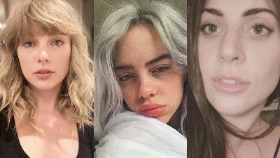 Taylor Swift vừa khoe mặt mộc xinh đẹp, nhưng trước đó loạt sao này đã gây thương nhớ với nhan sắc không phấn son