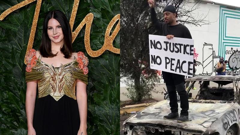 Tham gia biểu tình chống phân biệt chủng tộc nhưng Lana Del Rey lại bị lên án vì hành động này