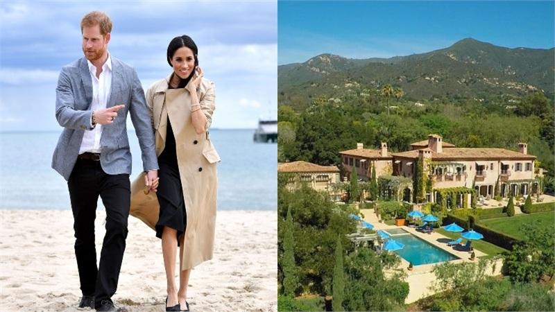 Ngắm dinh thự 340 tỷ đồng mà Hoàng tử Harry và Công nương Meghan Markle vừa chuyển về sinh sống tại California