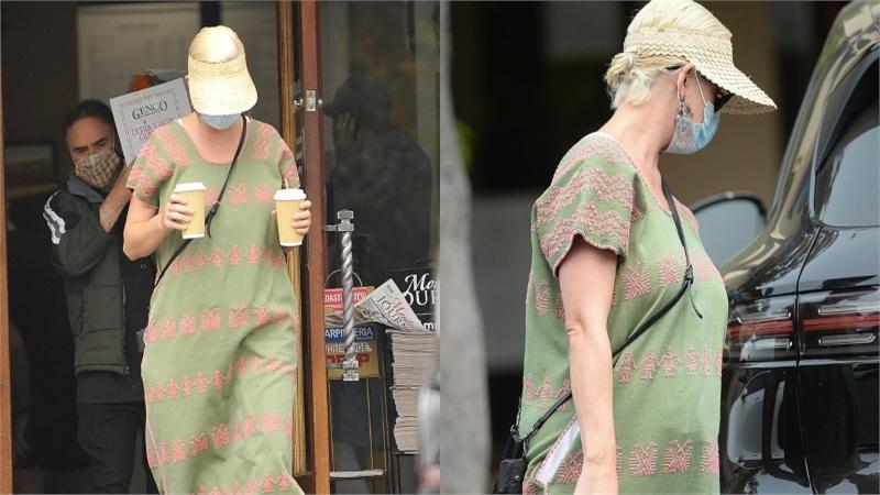 Katy Perry che chắn kín mít khi lần đầu xuất hiện hậu sinh con đầu lòng