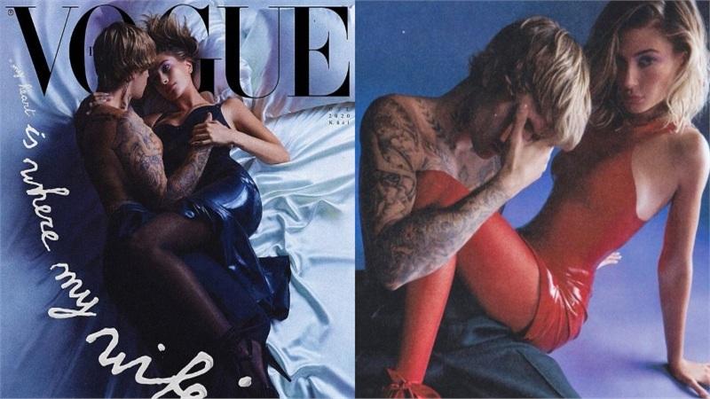 Hailey Baldwin và Justin Bieber tình tứ trên tạp chí Vogue, đốn tim vì visual cực đỉnh