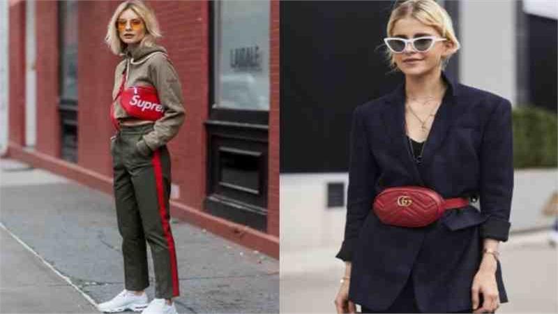 Bum bag - chiếc túi bao tử càn quét street style thu đông 2020