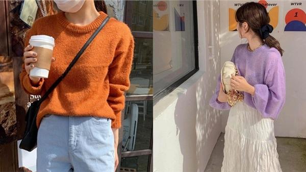 Để style thu đông bớt nhàm chán, đừng quên những chiếc áo len màu nổi