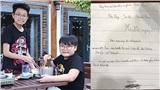 Con trai Xuân Bắc viết đơn xin gia nhập đội tình nguyện thời Covid-19