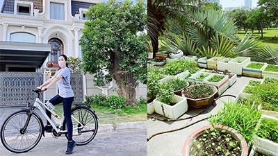 Bảo Thy khoe vườn rau đủ thứ tại gia nhưng điều dân mạng để ý lại là biệt thự to như lâu đài