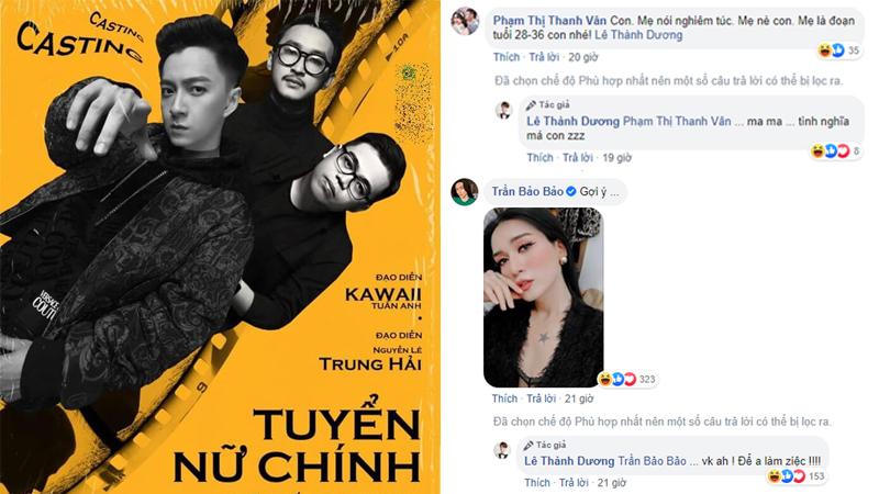 Ngô Kiến Huy đăng tin tìm kiếm nữ chính cho MV mới, BB Trần, Châu Đăng Khoa nô nức vào ứng cử