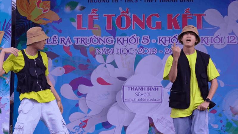 Quang Đăng nói gì khi nhảy Bigcityboi trên sân khấu trường học?