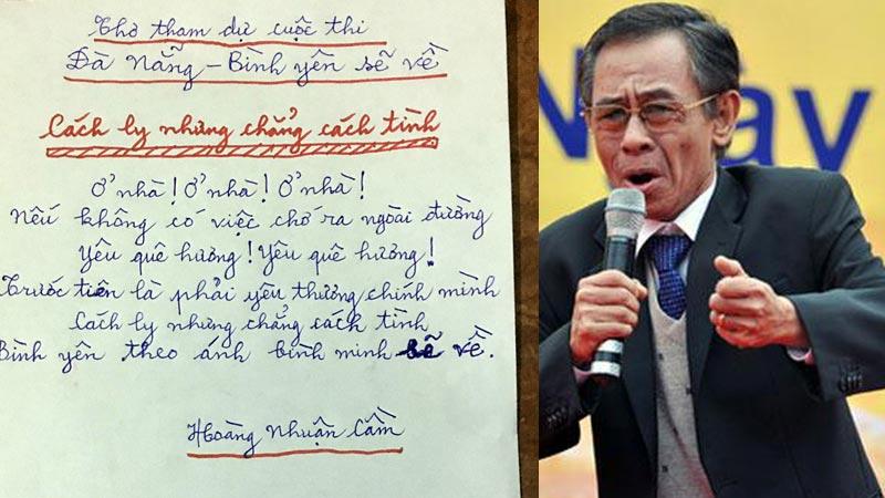 Nhà thơ Hoàng Nhuận Cầm nói gì về 2 bài thơ gửi tới dự thi Đà Nẵng - Bình yên sẽ về