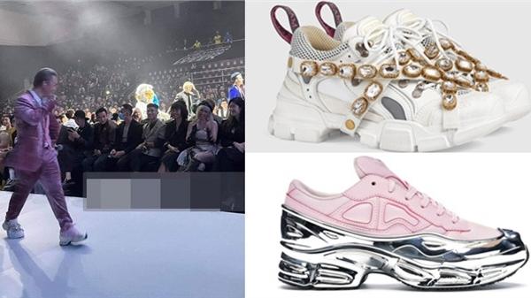 Bóc giá sneaker Binz mang mỗi chân một mẫulên sân khấu trình diễn để gặp Châu Bùi, 'chịu chơi' không ai bằng!
