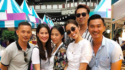 'Du hí' Thái Lan cùng hội bạn thân, Tăng Thanh Hà lộ vóc gầy gò bất thường