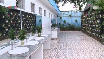 Cận cảnh nhà vệ sinh '5 sao' của trường THPT Quảng Ninh