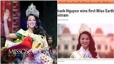 Phương Khánh được báo điện tử 'hot' nhất Philippines khen ngợi khi đăng quang Miss Earth