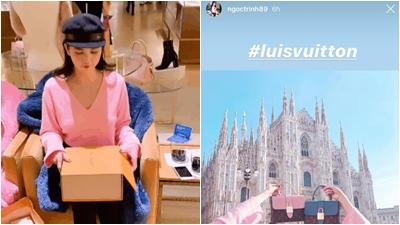 Ngọc Trinh 'quê xệ' khi mua túi Louis Vuitton nhưng lại khoe thành 'Luis Vuitton'