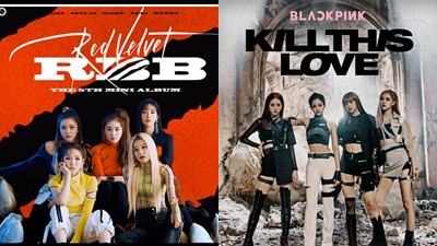 Fan 'đẩy thuyền' BlackPink - Red Velvet vì điểm trùng hợp thú vị trong poster album
