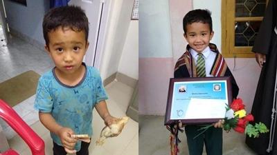 Cậu bé dùng toàn bộ số tiền mình có đưa gà con đi cấp cứu được tôn vinh, trao tặng bằng khen