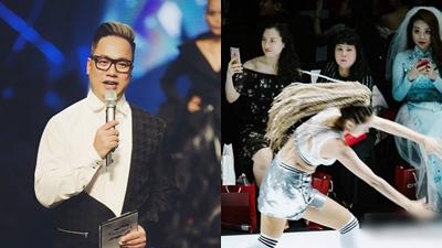 MC Tùng Leo nói gì với đội lau sàn khiến Minh Hằng vấp phải cú 'lộn cầu vồng' nghiệt ngã