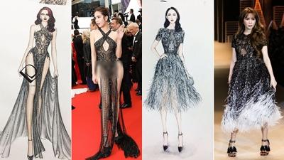 Không riêng Ngọc Trinh, nhiều mỹ nhân Việt cũng từng là 'nạn nhân' sự khác nhau 'một trời một vực' giữa trang phục trên bản vẽ và ngoài đời
