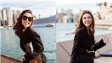 Hoa hậu Tường Linh 'phủ' đồ hiệu, sành điệu trước nhà hát con Sò ở Úc