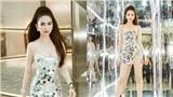 Ngọc Trinh mặc váy lấp lánh sexy, khoe body 'nóng bỏng mắt' dự tiệc tại Singapore