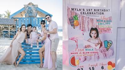 Siêu mẫu Hà Anh tổ chức sinh nhật trên biển cho con gái đầu lòng