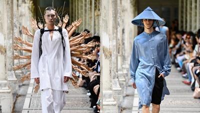 Nhà mốt Nhật Bản 'càn quét' sàn diễn Paris Fashion Week với bộ sưu tập mang hơi thở tôn giáo Đông -Tây kết hợp