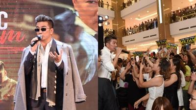 Fan Hà Nội 'vây kín' trung tâm thương mại cùng Đàm Vĩnh Hưng đón MV mới
