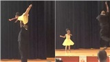 Clip bố nhảy ba lê cùng con gái đáng yêu hết nấc gây sốt cộng đồng mạng
