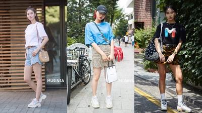 Chỉ với áo phông, giới trẻ Hàn vẫn lên đồ đẹp miễn chê