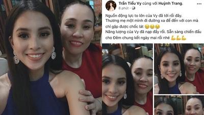 Tiểu Vy hạnh phúc vì được mẹ ruột sang Trung Quốc cổ vũ trong đêm chung kết Miss World 2018