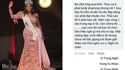 Netizen Việt phản ứng như thế nào khi Hoa hậu Mỹ đăng quang Miss International Queen 2019 ?