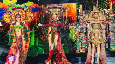 Chiêm ngưỡng những trang phục dân tộc ấn tượng tại Hoa hậu Hòa bình Quốc tế 2019