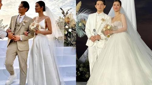 Cận cảnh những chiếc váy cưới của Đông Nhi, giúp cô dâu tỏa sáng như nàng công chúa bước ra từ chuyện cổ tích trong ngày trọng đại