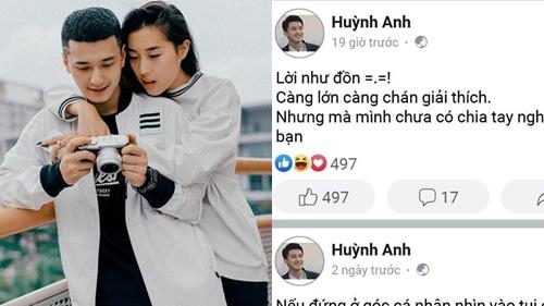 Huỳnh Anh lên tiếng về tin đồn chia tay bạn gái Y Vân sau thời gian yêu xa