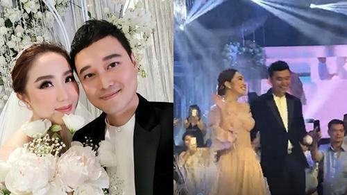 Clip: Cô dâu Bảo Thy xinh đẹp rạng rỡ, tự tin catwalk trên sân khấu cùng bạn thân Quang Vinh