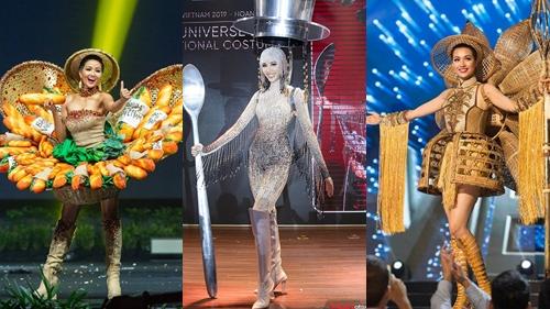 Điểm danh những bộ trang phục dân tộc ấn tượng của đại diện Việt Nam tại 'Miss Universe'