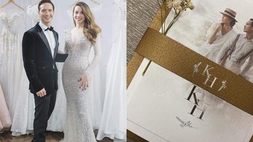 Lộ thiệp cưới của cặp đôi Kim Lý - Hồ Ngọc Hà?