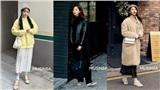 Ngắm street style giới trẻ Hàn tuần qua, bạn sẽ có cả kho bí kíp mặc ấm mà vẫn trendy ngày mưa rét