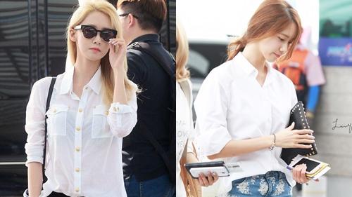 1001 cách diện sơ mi đơn giản mà thanh lịch của Yoona
