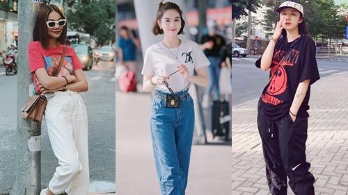 Học lỏm tips diện áo phông mùa hè từ Ngọc Trinh,Thanh Hằng cùng dàn sao Việt